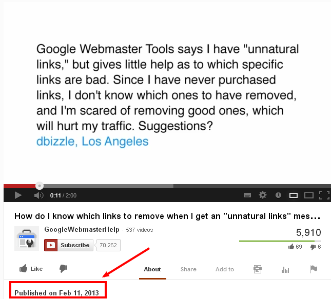 youtube unnatural links